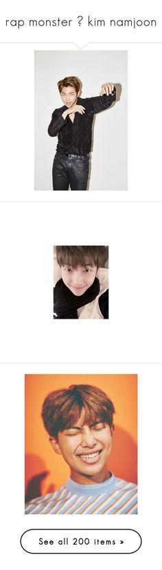"""rap monster ➟ kim namjoon"" by seungvie ❤ liked on Polyvore featuring men's fashion, bts, kpop, rap monster, namjoon, bts - namjoon, tops, anons, k-pop and dowo"