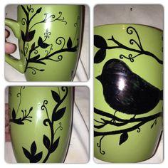 Sharpie doodle mug, a pic, cool look for a mug