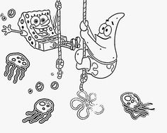 Spongebob And Sandy Coloring Pages Printable Free Online Sheets For Kids Get The Latest