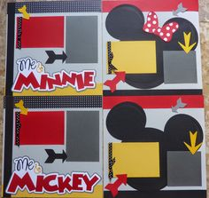 SVG files Disney scrapbook page kits you can cut!