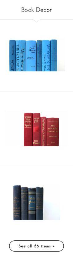 """Book Decor"" by redladybugz ❤ liked on Polyvore featuring home, home decor, vintage home decor, vintage home accessories, red home decor, red home accessories, sabatini, red and black home decor, kipling and blue home accessories"