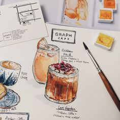 Graph Cafe. ChiangMai Water color  June 2017