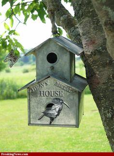 Strange bird houses | Heavy Metal BirdHouse Pictures - Strange Pics - Freaking News