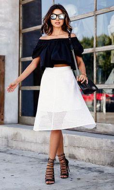 Ombro a ombro, a moda que conquistou o verão das fashionistas para 2016   Feminilidades