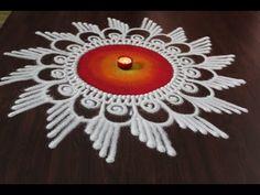 Beautiful sanskar bharti rangoli designs with colours by Shital Daga, new year rangoli designs - YouTube Rangoli Designs Simple Diwali, Rangoli Side Designs, Simple Rangoli Border Designs, Rangoli Designs Latest, Free Hand Rangoli Design, Rangoli Patterns, Small Rangoli Design, Rangoli Ideas, Rangoli Designs With Dots