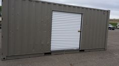 20' container with 6' roll door