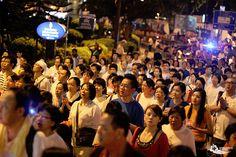 Wesak Day Parade in Kuala Lumpur, Malaysia, where many people join in the parade (Vesak Day).