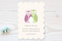 Nestled Owls Baby Shower Invitations by nocciola design at minted.com