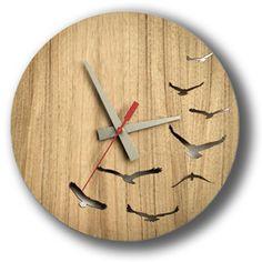 Flock Clock from honeybee Kyle Roddenby   Blue Caravan Ethical Design Market