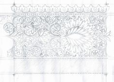 Hand Work Embroidery, Embroidery Designs, Textile Patterns, Textiles, Border Pattern, Sketch, Tapestry, Indian, Belt