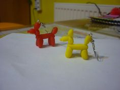 #fimo #earrings #baloons #dogs