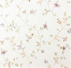 Landhaus Tapete Fleuri Pastel A.S. 93770-1 937701 Blumenranke violett grün weiß