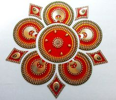 Rangoli Acrylic Rangoli Wedding Centerpiece by JustForElegance
