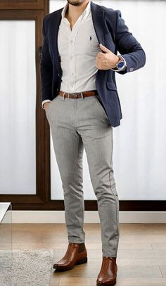 casual outfits mens - casual outfits ` casual outfits spring ` casual outfits for winter ` casual outfits summer ` casual outfits for work ` casual outfits for women ` casual outfits for school ` casual outfits mens Business Casual Looks For Men, Blazers For Men Casual, Casual Wear For Men, Business Casual Outfits, Men Style Casual, Business Wear, Casual Styles, Black Blazers, Blazer Outfits Men