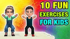 Kids need daily exercise to get stronger, healthier, more active and burn fat. In today's video workout we have a collection of 10 fun exercises for children. Yoga For Kids, Exercise For Kids, Kids Workout, Daily Exercise, Creative Curriculum Preschool, Preschool Learning, Physical Activities For Kids, Therapy Activities, Pediatric Physical Therapy