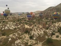 Hot air balloon in Cappadochia Turkey.