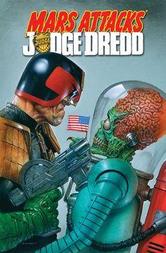 Mars Attacks Judge Dredd Mashup Art by Greg Staples     (Source: stomm2000ad, via caveofcool)