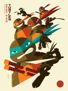 geek-art:   Geek-Art.net Tom Whalen for Nickelodeon Creator Series Promotional Pack. More Nickelodeon magic prints here #geekart