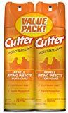 Unscented Cutter Insect Repellent (Aerosol) - 6 oz) Repels mosquitoes that may transmit the Chikungunya, Zika, Dengue and West Nile virusesLong