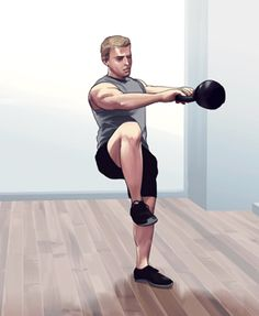 "I can get into this kettlebell swing variation in @Men's Health -- it's called the ""spider swing."""