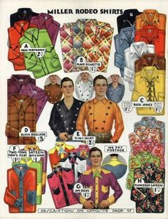 Miller rodeo shirts - 1936