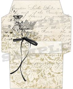 French vintage style envelope No 3  by aftermidnightdesign on Etsy, $3.00