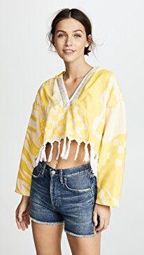 New Paradised Cropped Baja Hoodie online. Enjoy the absolute best in Stevie May Clothing from top store. Sku mbqs59228msto94026