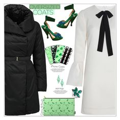 """Chic In Oversized Coat"" by atelier-briella ❤ liked on Polyvore featuring Related, Add, Prada, Stephen Webster, chic, Elegant, iPhonecases, Carry and oversizedcoats"