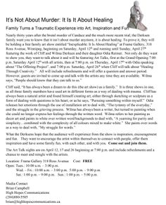 """Join the Derksen family for a free family art show entitled """"Inexplicable: It Is About Healing"""" at Frame Gallery, 318 Ross Avenue, Winnipeg, from April 12  to April 27.    http://www.cliffderksen.com/art-shows.html http://odiareimer.com"""