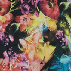 Italian Multicolor Floral Printed Cotton Voile
