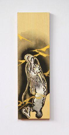 Dragon painting mini painting ink art Japanese by ArtGalleryReina