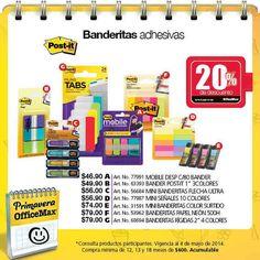 Folleto OfficeMax hasta el 4 de mayo Folleto OfficeMax:OfficeMax en su folleto para este mes tiene las siguientes ofertas: - 20% de descuentos banderitas adhesivas dePost-it - En la compra de monitor RL2455HM de BenQ obtén 40% de descuento en productos para gaming Logitech. - 30% de descuento e... -> http://www.cuponofertas.com.mx/oferta/folleto-officemax-hasta-el-4-de-mayo/