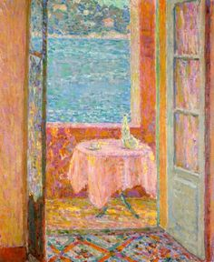 Table by the Sea, Villefranche-sur-Mer Henri Le Sidaner - 1920 ...................#GT