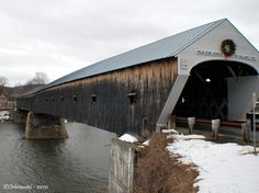 The Cornish-Windsor covered bridge that spans the Connecticut River and connects Vermont and New Hampshire.