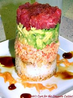 quick, easy & healthy homemade ahi tuna tower