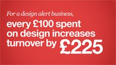 Every £100 spent on design increases turnover by £225