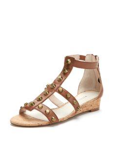 Lizzie Studded Gladiator Sliver Wedge Sandal by Wythe NY at Gilt