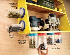 Repurposed garage organization