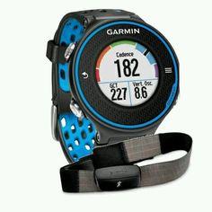 Garmin Laufuhr Forerunner 620 HR Inkl. Premium HF-Brustgurt Run, Schwarz/Blau,