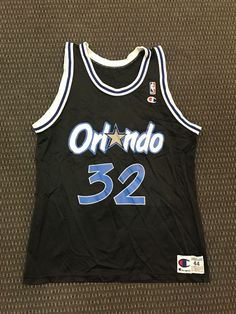 Shaquille oneal vintage champion orlando magic nba jersey size 44 mint new 0b06a5f85