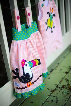 Toucan girls dress