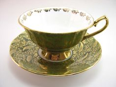 Elizabethan Staffordshire Tea Cup And Saucer by AntiqueAndCrafts, $50.00