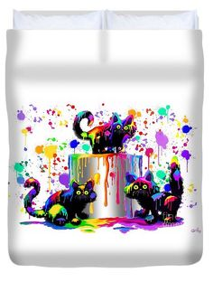 Who Me? Duvet Cover by Nick Gustafson