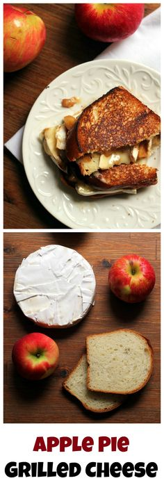 Ever wanted to eat apple pie for lunch? Now you can with these apple pie grilled cheese sandwiches! Stuffed with homemade apple pie filling and loads of gooey brie, these are the perfect fall sandwiches.
