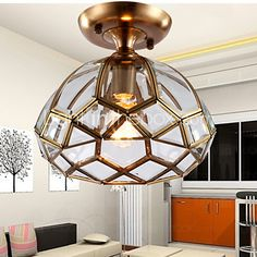 Flush Mount LED Traditional/Classic Living Room / Bedroom / Dining Room / Study Room/Office Metal - USD $280.99
