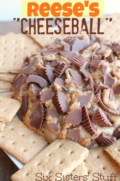Reese's Peanut Butter Cheese Ball from Sixsistersstuff.com - This is the recipe to make for this weekend! Oh My Yummy!