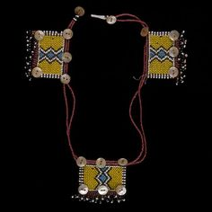 Mfengu loveletter necklace, Eastern Cape, South Africa, mid-1900's