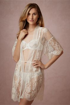 Mae Chantilly Lace Robe from BHLDN