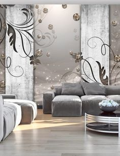 Papier Peint Land Of The Fireflies - Taille : cm 3d Wallpaper Mural, Photo Wallpaper, Stone Interior, Interior Decorating, Interior Design, Vintage Design, Beautiful Wall, Home Projects, Living Room Designs