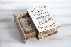 Wedding Ring Box Save the Date Ring Bearer Box by MyHouseOfDreams